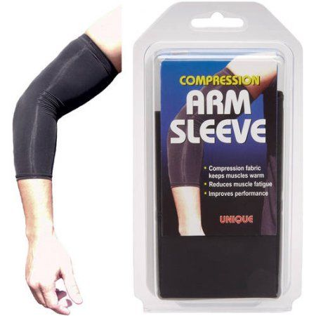 Unique Basketball Arm Sleeve, Size: Large, Black