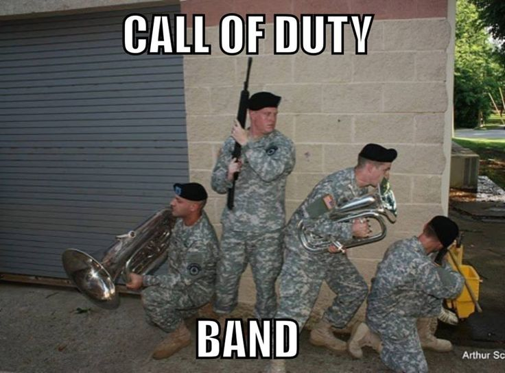 The 129th Army Band tuba section at their finest