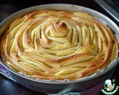 """Яблочный пирог """"Чайная роза"""" ингредиенты"""