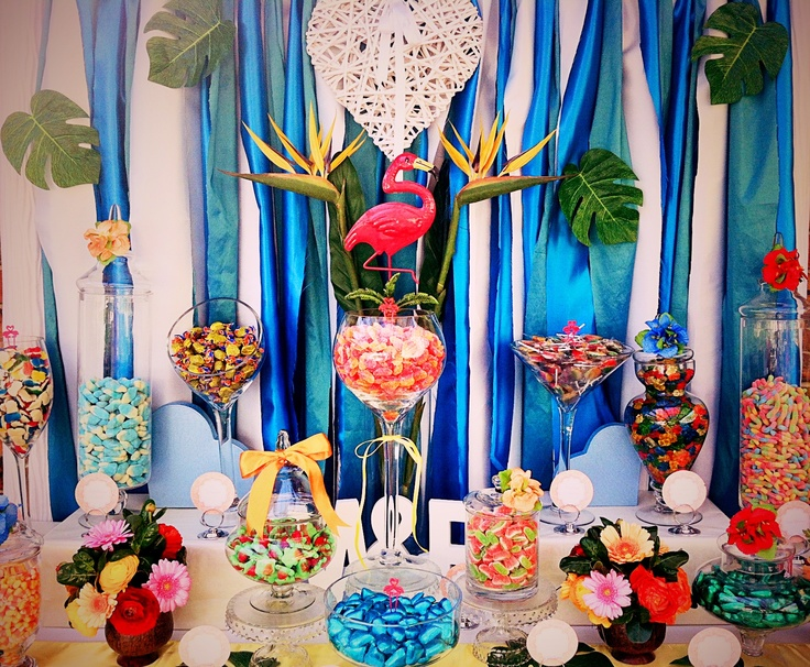 Tropical Romance Candy Buffet Lolly Buffet by Candy Land ...