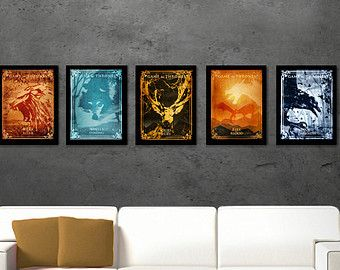 Game of Thrones emblem print Game of Thrones art by PosterInvasion