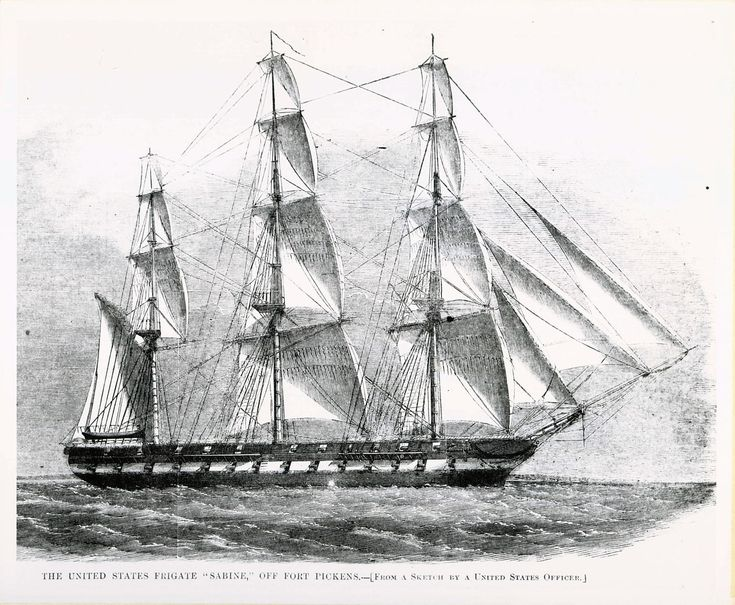 Period engraving of the frigate USS Sabine.jpg