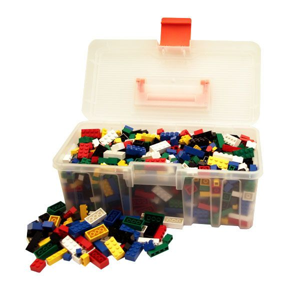 Lego bricks multicolor kit with a fantastic box - for play or collection
