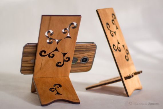Sun Spiral Docking Stand for Android Cell Phone by ideasinwood