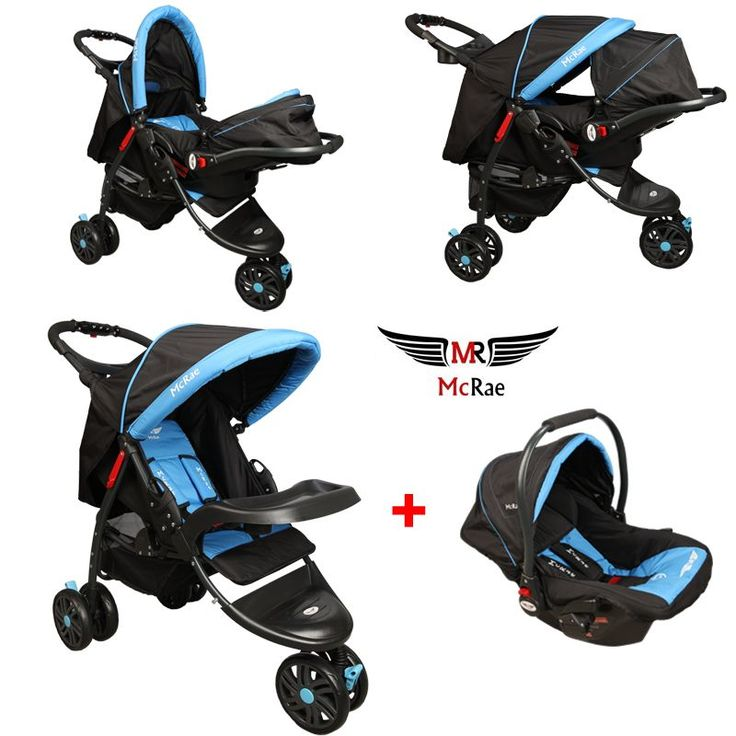 McRae MC 815T Triple Jogger Travel Set 3 Tekerlekli Bebek Arabası - Mavi ::