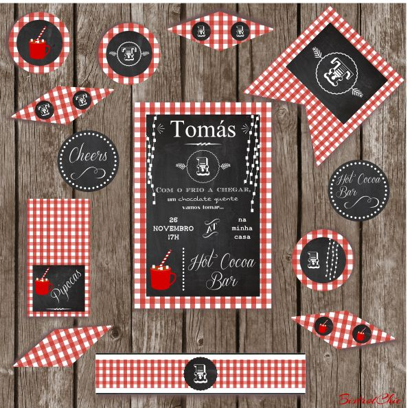 Hot Cocoa Personalized Party Printable
