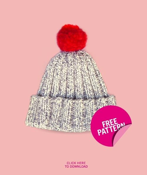 Knitting Patterns For Crazy Hats : Strickanleitung fur Bommelmutze ohne rund stricken Stricken Pinterest K...