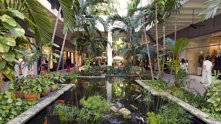 green shopping mall