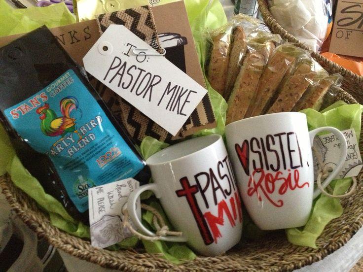 Pastor Appreciation Kit- diy card, gourmet coffee, biscotti and a DIY personalized coffee mug.