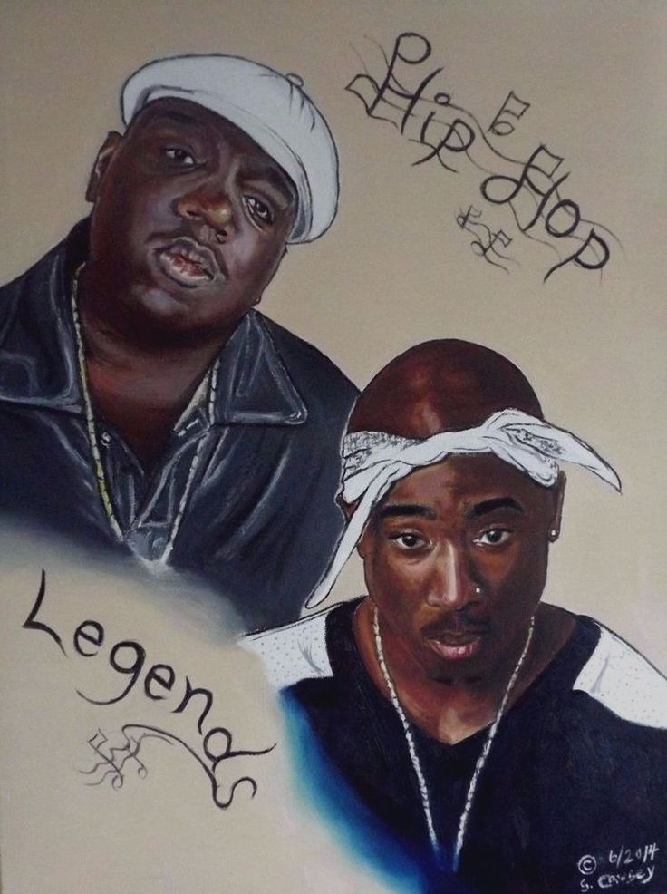 Original painting of Tupac and Biggie from Bonafide Artist ... Tupac And Biggie Painting