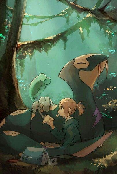 Treecko, Seviper, anime girl, jungle; Pokemon   Pokémon ...