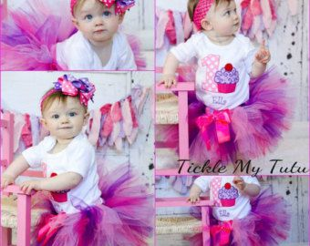 Boy/Girl Twin Cupcake Birthday Outfits Twin by TickleMyTutu