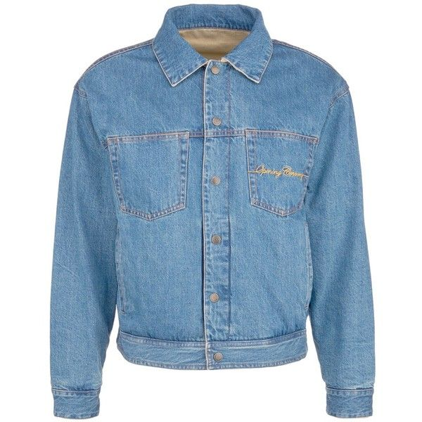 Opening Ceremony Reversible corduroy unisex denim jacket (675 SGD) ❤ liked on Polyvore featuring men's fashion, men's clothing, men's outerwear, men's jackets, blue, mens blue jean jacket, mens reversible jacket, mens corduroy jacket and mens blue jacket