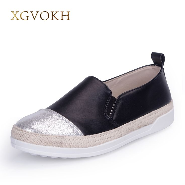 XGVOKH Brand women's Loafer superstar Straw Rope Lazy british style casual  flats comfortable Dress Woman shoes
