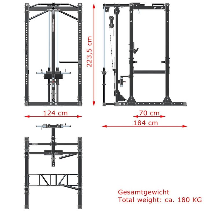 Best power rack measurements images on pinterest
