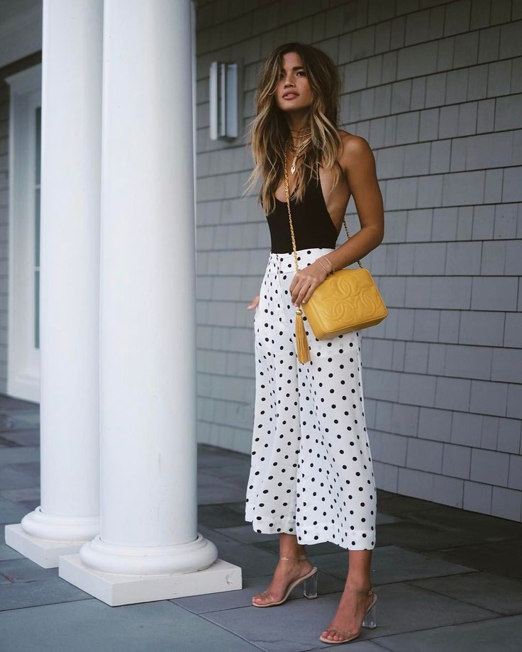 polka dot culottes for summer