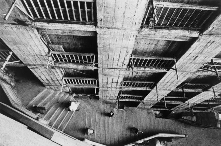 "Ikko NARAHARA :: Island without Green―Gunkanjima: Overhead Views of Apartments in Daylight from ""Human Land″, 1954-57"