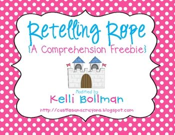 FREE! This a super cute activity to teach and practice retelling with fiction texts.: Stories Elements, Retelling Ropes, Teaching, Reading Comprehension, Language Art, Retelling Stories, High Heels, Great Ideas, Guest Bloggers Kelly
