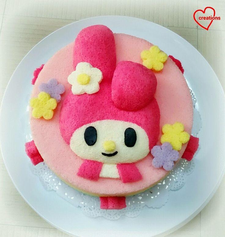Loving Creations for You: My Melody Rainbow Chiffon Cake