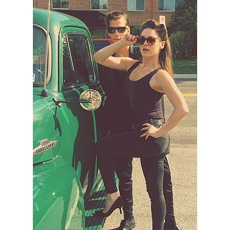 #tbt to August when we took the #JulianaProject to the Kennedy Center & @tygaronstmarks and I started a gang       #julianathenovel #ontheroad #actorslife #vintage #chevy #greaser #kennedycenter #1940s #1950s #imisssummer