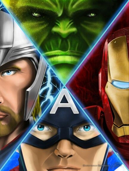New last project, Avengers. DIGITAL ART.