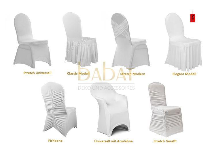 Verleih, mieten Stretch Hussen Husse Stuhlhussen Stuhl Stuhlbezug weiß, creme in Möbel & Wohnen, Feste & Besondere Anlässe, Party- & Eventdekoration | eBay