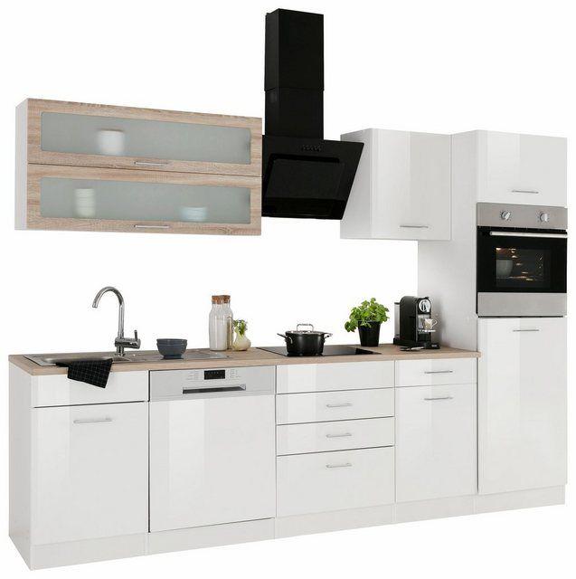 Kuchenzeile Utah Mit E Geraten Breite 280 Cm Kitchen Cabinets Cabinet Kitchen