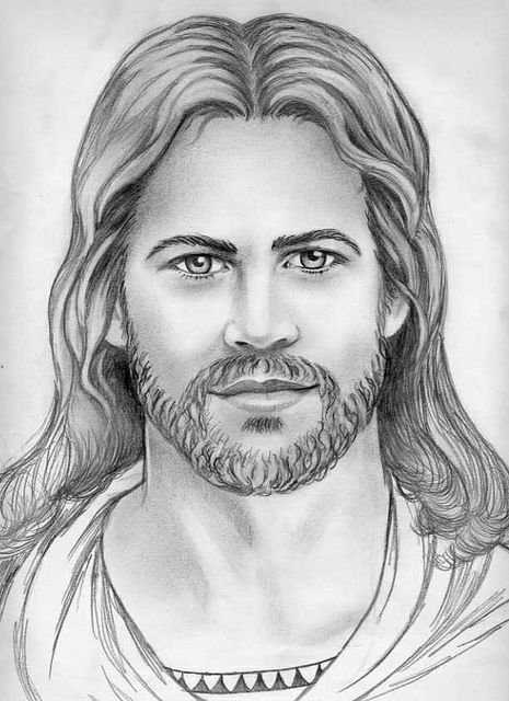 Jesus Drawing pencil by Stained Glass Painter / Jim M. Berberich, via Flickr