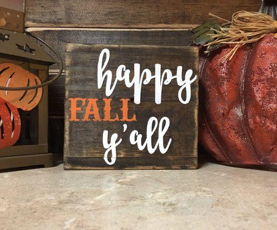 Fall signs / Fall decor / Thankful sign / Pumpkin sign / Wood