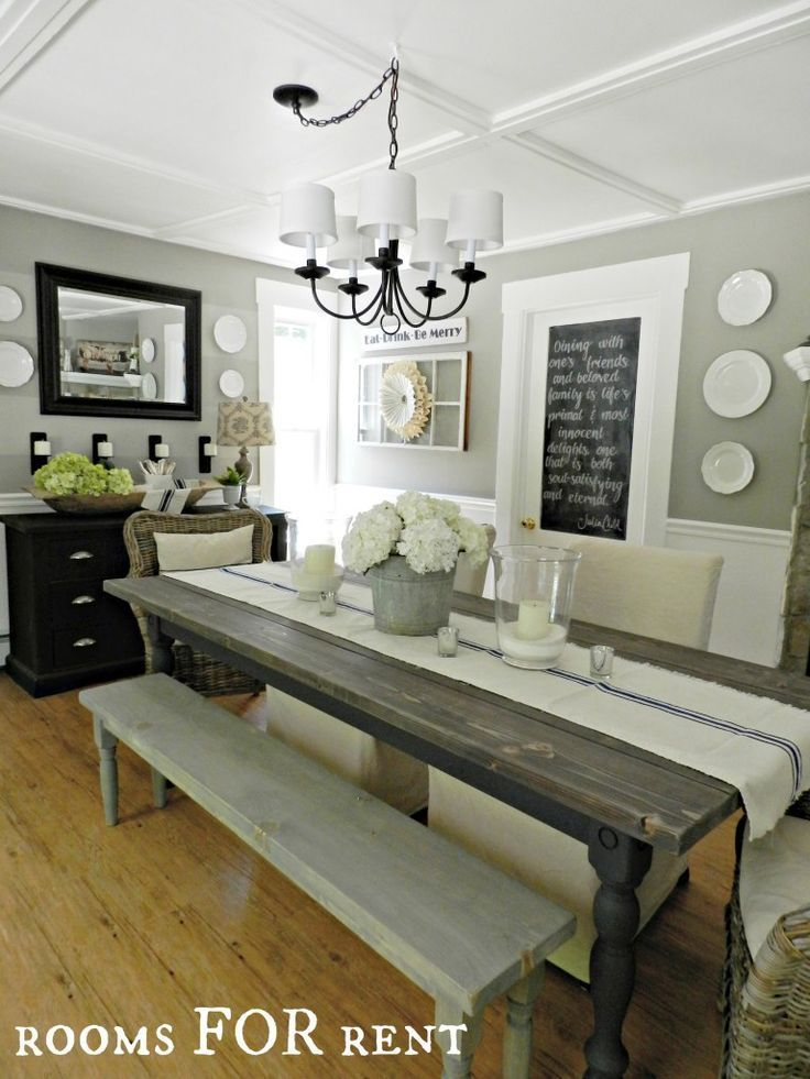House Ideas - Dining Room - Bench Seating At Dining Room Table