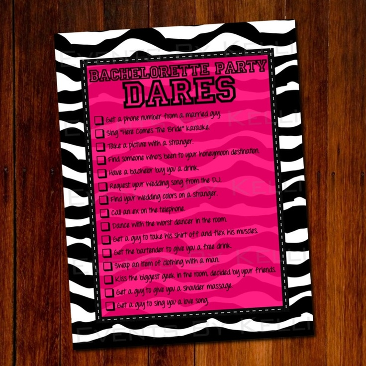 Bachelorette Party Dares Game