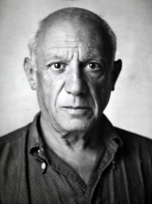 Portrait of Pablo Picasso by Michel Mako, 1950