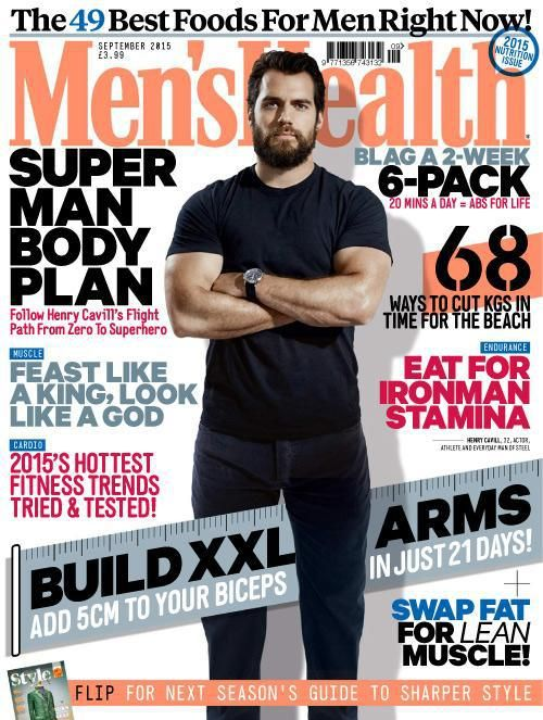 Henry Cavill News: First Look: Henry Standing Tall In Men's Health Magazine