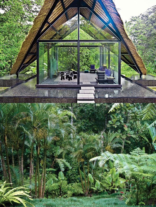 The Lotus Villa in Bali gives new meaning to 'living in a glass house'. The property fuses contemporary aesthetics with traditional finesse