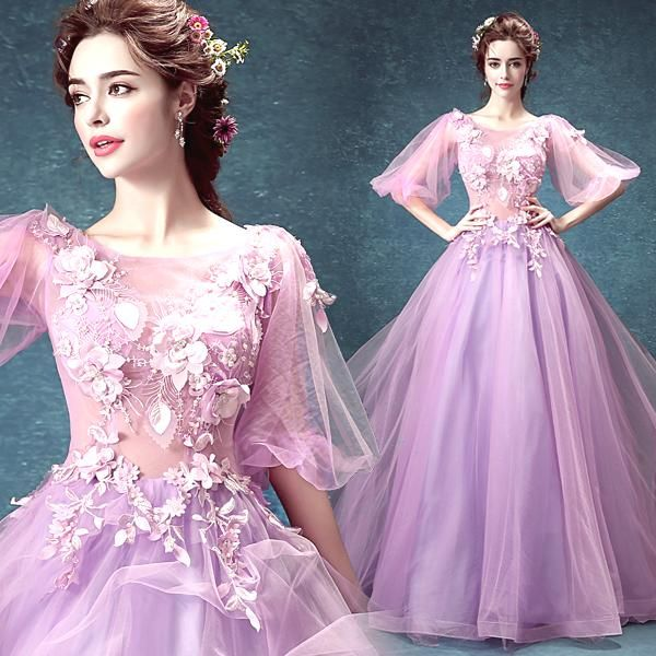 Purple long section of the wedding dress host performance dress $119 => Save up to 60% and Free Shipping => Order Now! #fashion #woman #shop #diy www.weddress.net/...