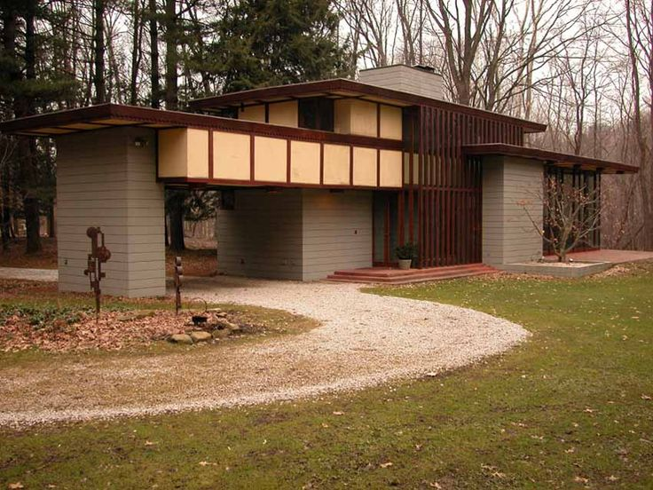 Louis Penfield House 1955 Willoughby Hills Ohio Usonian Style Frank Lloyd