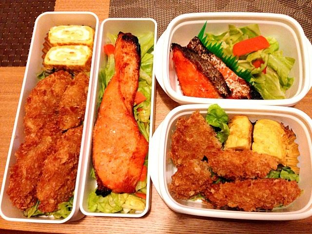 今日はおかずが多いな。野菜少なめだし…。 - 39件のもぐもぐ - お弁当♡明太鮭、温野菜、メンチカツ、卵焼き by usaco123