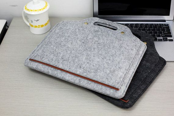 Hanger Felt 13 Macbook Sleeve  13 Felt Macbook by JYcustomworkshop