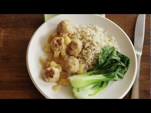Pineapple Plum Chicken Meatballs