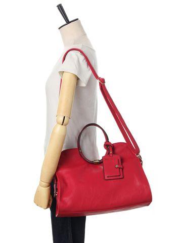 パスケース付ラウンドハンドル2WAYバッグ | レディースファッション通販サイトFABIA(ファビア)