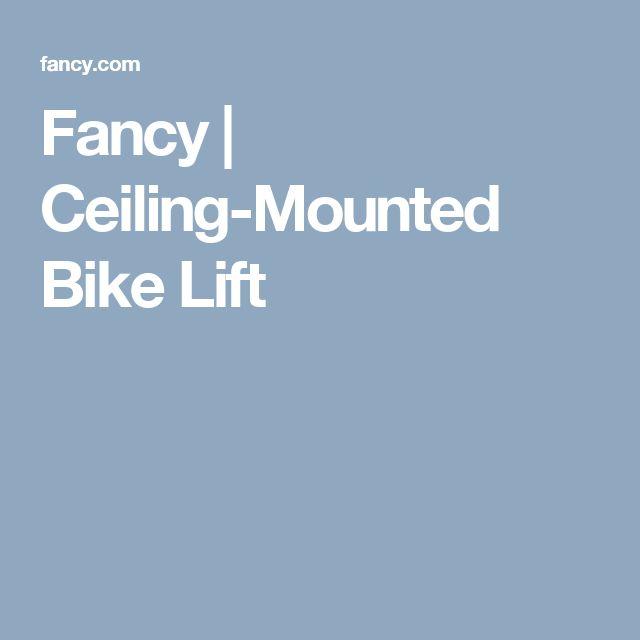 Fancy | Ceiling-Mounted Bike Lift