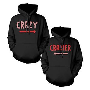 Funny Crazy and Crazier Cute BFF Matching Best Friend Hoodies Front Back Design