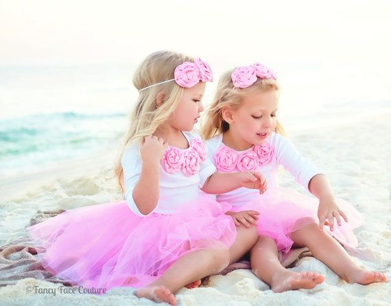 Rosette tutu outfit baby girl newborn toddler take home outfit