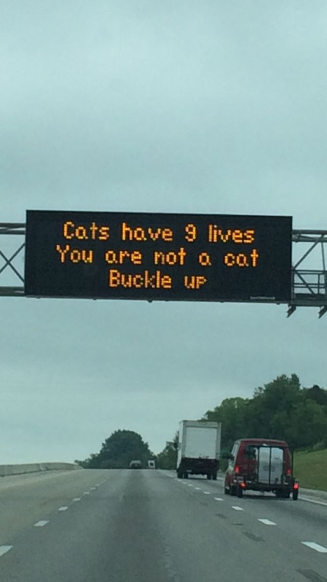 Road sign in Kentucky.  This should be everywhere