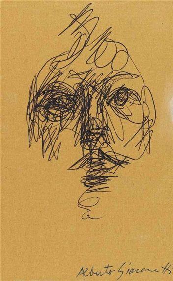 Alberto Giacometti - Tête de femme (Portrait... on MutualArt.com