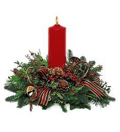 Pillar Candle Christmas Centerpiece Fresh