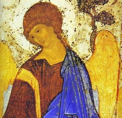 Andrei Rublev (Russian artist, (c 1360-1430) The Old Testament Trinity. Detail. c. 1410