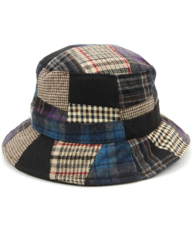 Hawkins Patchwork Tweed bucket hat - Blue
