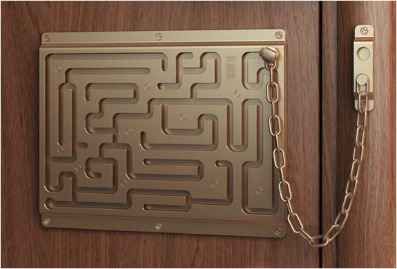 DEFENDIUS LABIRINTH DOOR CHAIN.  A good way to tell if someone is to drunk to drive... If they can't unlock the door lol