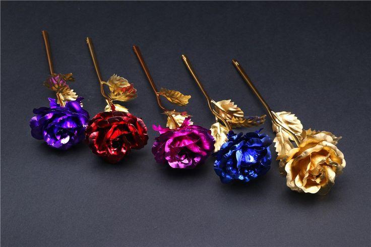 24 k ouro rosa de ouro PVC decoração